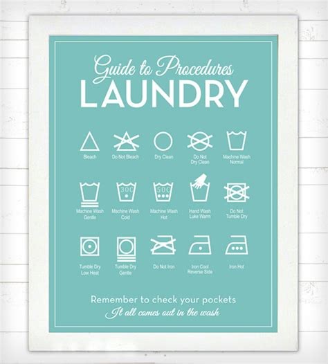 free printable laundry wall art guide to procedures laundry room print secret code dorm
