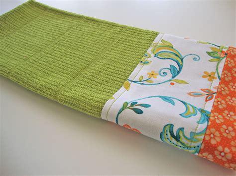 Decorative Dish Towels by Decorative Kitchen Dish Towels Fabric Trimmed Towel
