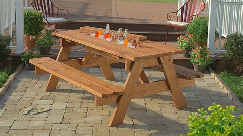Build Your Own Picnic Table by 21 Outrageously Diy Projects For Your Backyard