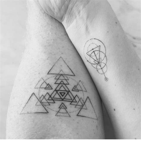 tattoo meaning life change geometric tattoo triangle change intellect strength