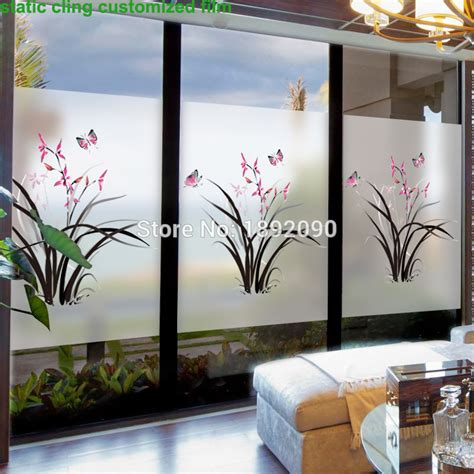 decorative window stickers for home custom size stained static cling window film privacy
