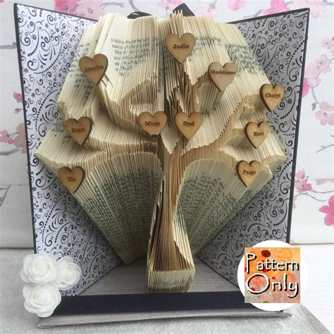 pattern art book tree folded book art pattern from nosoxcarves on etsy studio