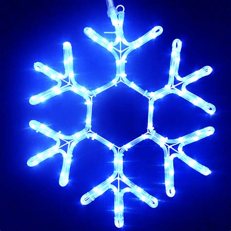 blue 24 quot led ropelight snowflake 210 leds white wire