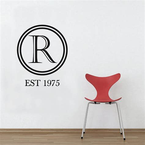 letter wall stickers monogram letter wall sticker removable custom decal by wallboss