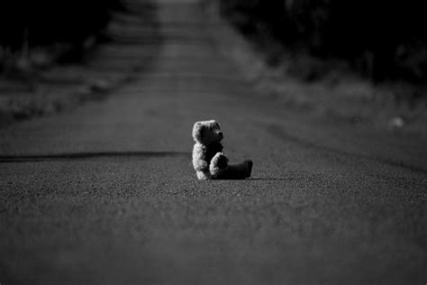 Superb Christmas Song Submission #3: Sad-Teddy-On-The-Road-Picture.jpg
