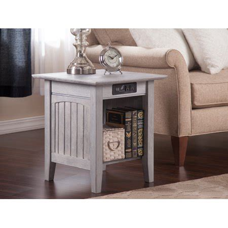 nantucket  table  charging station  driftwood
