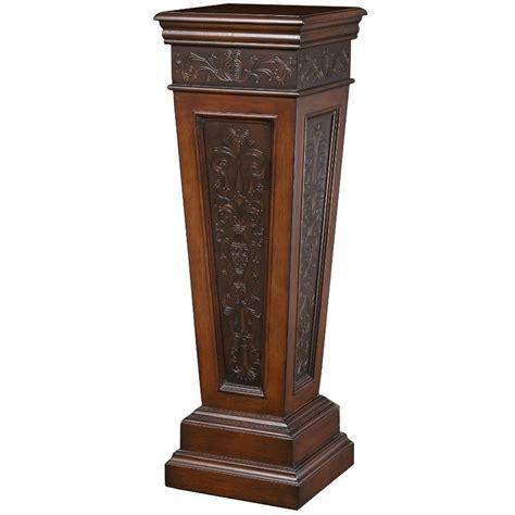 foyer pedestal table amazon com pulaski pedestal table kitchen dining