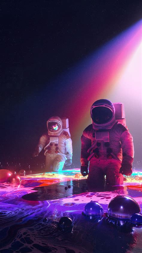 neon astronauts wallpapers hd wallpapers id