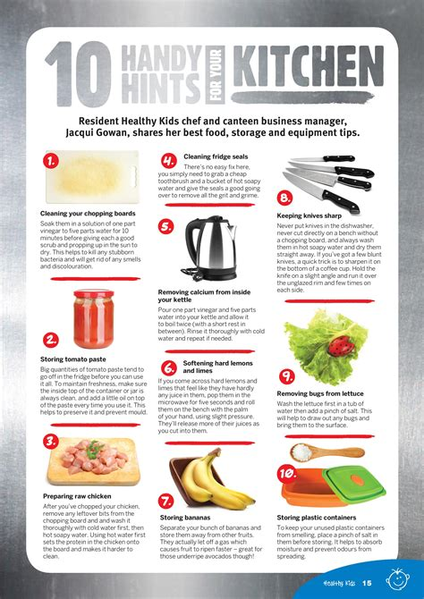 10 handy hints for your kitchen healthy