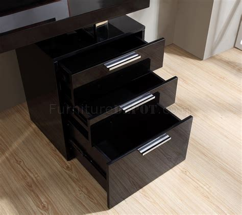 Black Gloss Office Desk Geneva Modern Office Desk In Black Gloss By J M