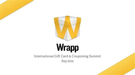 Summit Gift Card - wrapp gift card couponing summit sep 2012
