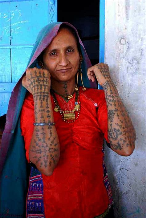 hindu tribal tattoos kachchhi rabari tatoos india and indian