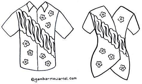 gambar mewarnai baju batik gambar mewarnai