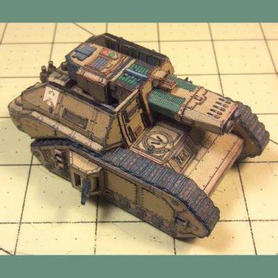 Warhammer Papercraft - warhammer 40k papercraft macharius omega tank tektonten