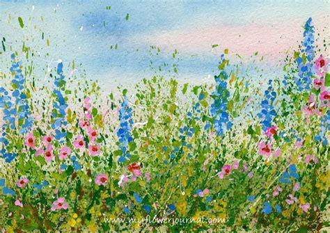 watercolor garden tutorial create a splattered paint flower garden gardens