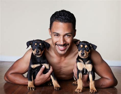 guys with puppies lustralboy brand 2013 mr lifeline calendar both the guys and puppies are so