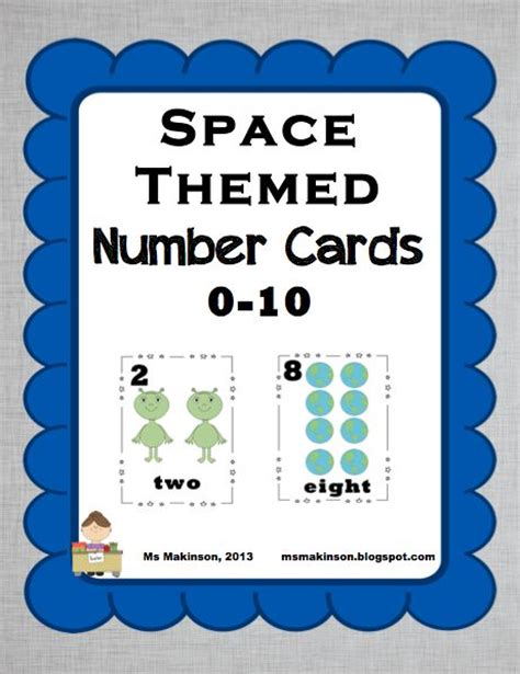 printable 3 digit number cards space theme number cards 0 10