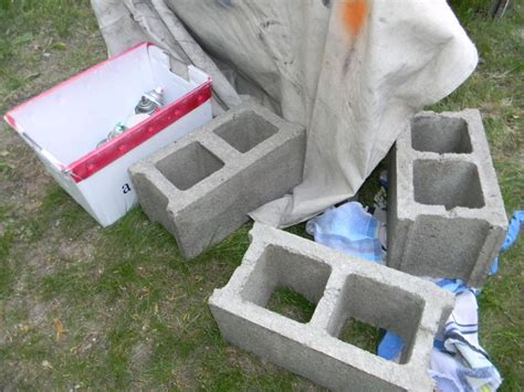cinderblock bench hometalk cinder block bench