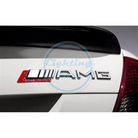 Emblem Grill Amg By Tastestos 1 pc black series sticker car trunk rear emblem trim