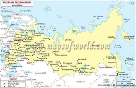 map of russia with big cities map of russia with cities
