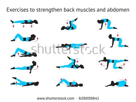 back exercise stock images royalty free images vectors