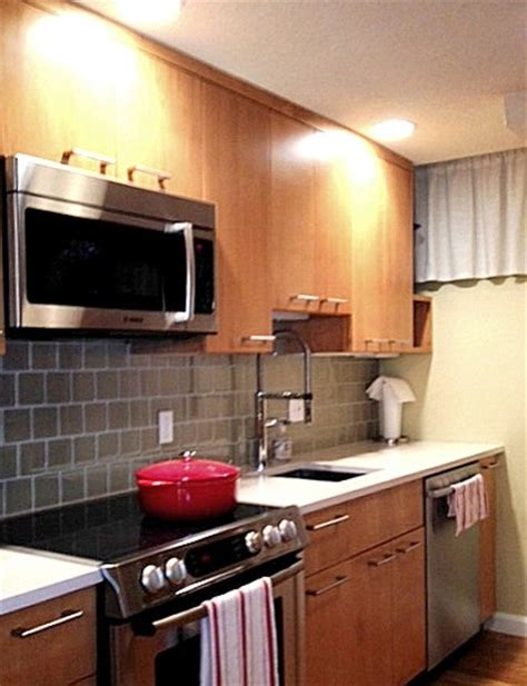 One Sided Galley Kitchen - other side of small galley kitchen transitional kitchen boston by kim eifrid akbd