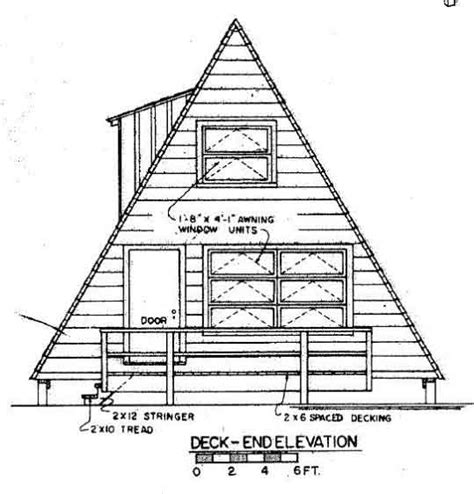 a frame plans free a frame house plan with deck