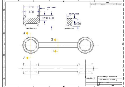 Sectional Drawing by Technological Design Sectional Engineering Drawing