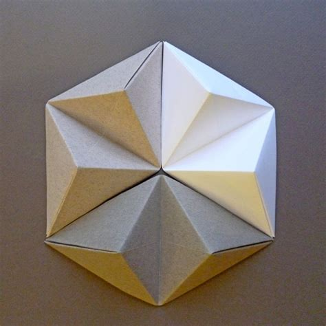 Geometric Paper Folding - 25 best ideas about geometric origami on