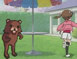 Running Bear Meme - running away from pedobear by sybozo meme center