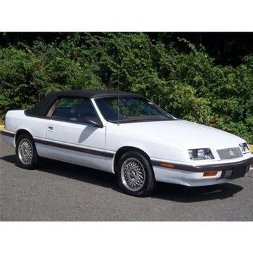 1987 1995 chrysler lebaron convertible top glass window