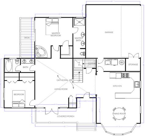 Home Floor Plan Visio | smartdraw floorplan visio alternative