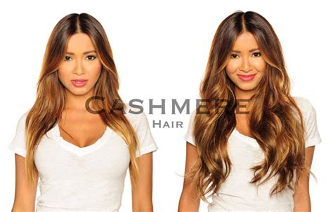 hairstyling products that temperaily give brunette hair warm brown tones remy clip in hair extensions before after pictures