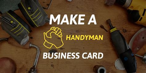 handyman business cards  solid   work placeit blog