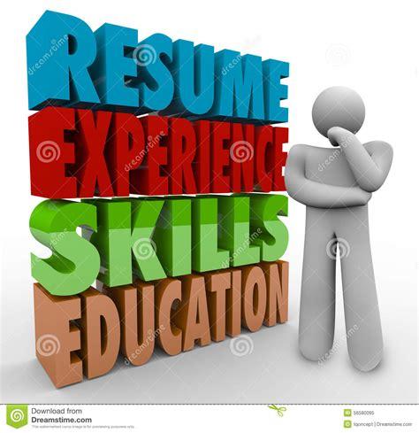 resume experience skills education thinker applying
