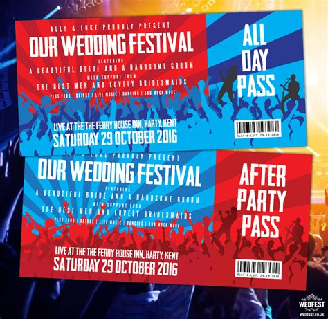 invitations that look like concert tickets agent sle