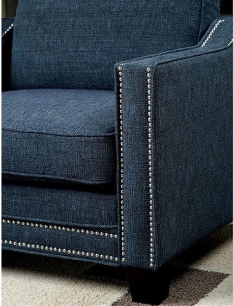 Blue Chenille Sofa Kerian Blue Chenille Sofa Cm6157bl Sf Furniture Of America