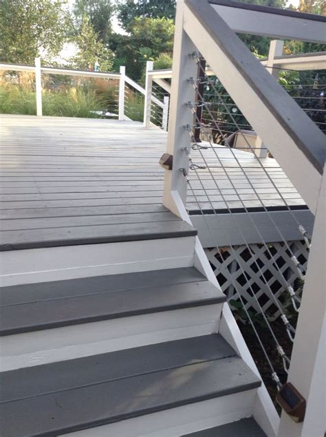 deck makeover  sherwin williams flagstone  solid