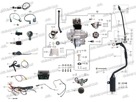 peace sports 110cc atv wiring diagram peace sports 110cc