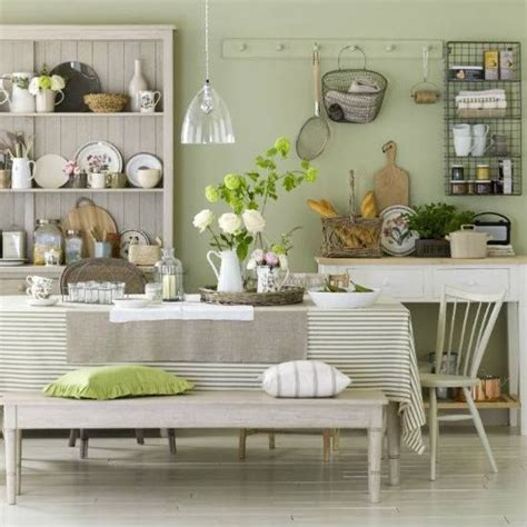 Green Country Kitchen Green Country Style Kitchen Home Decor Pinterest