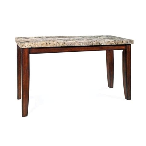 Steve Silver Company Montibello Marble Top Casual Cherry Marble Top Dining Table