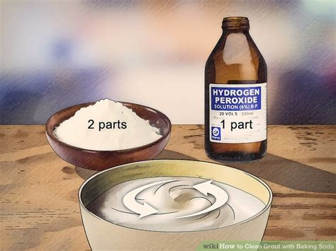 Cleaning Grout With Hydrogen Peroxide How To Clean Grout With Baking Soda 14 Steps With Pictures