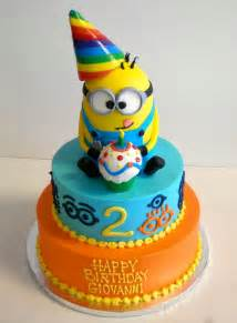 2 year old birthday cake despicableme minions boy s
