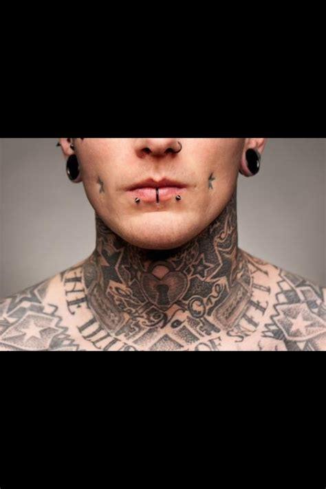 tattoo on neck boy throattattoos throat tattoos necktattoos throat