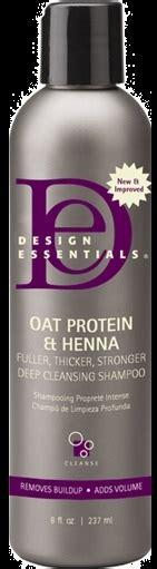 design essentials henna shoo design essentials oat protein henna fuller thicker