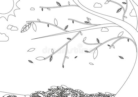 autumn landscape coloring pages coloring book autumn landscape with tree with falling