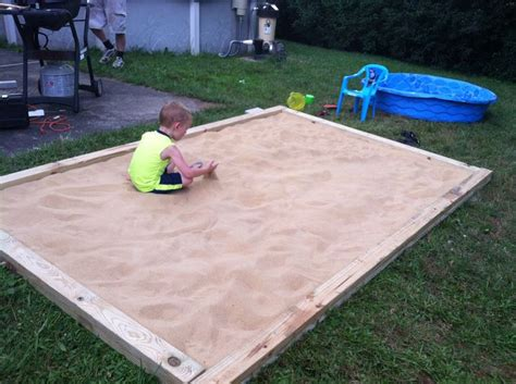 home made sandbox 8 2x6 or 2x8 pieces of pressure treated