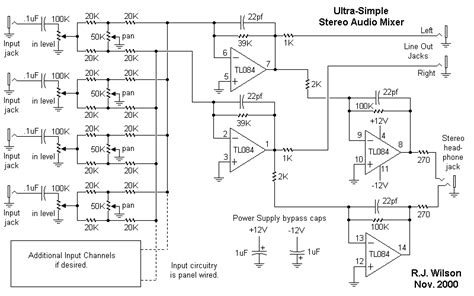 Pcb Mixer Audio ultra simple mono in panning mixer pcb layout component side shown