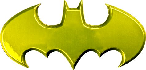 Batman Logo 1 batman batman logo yellow chrome premium fan emblem by