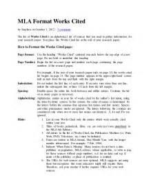 work cited mla format template mla format works cited